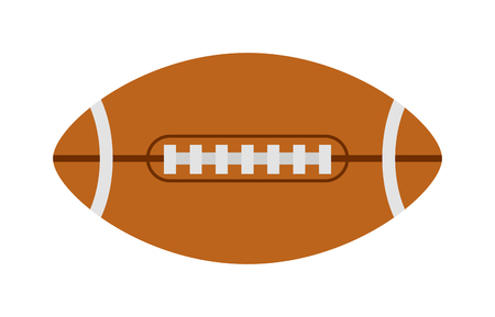 touchdown: American football ball, rugby ball sport football team game vector. Rugby ball american sport league and rugby ball equipment and professional graphic touchdown rugby ball. Goal single oval ball.