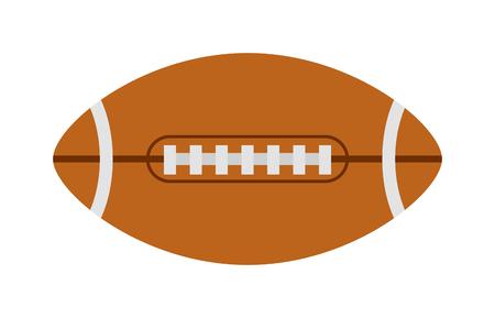 rugby ball: Bola del fútbol americano, rugby deporte de pelota juego de equipo de fútbol del vector. equipos de pelota de rugby americano de la liga deportiva y pelota de rugby y profesional pelota de rugby gráfico touchdown. Objetivo sola pelota ovalada.