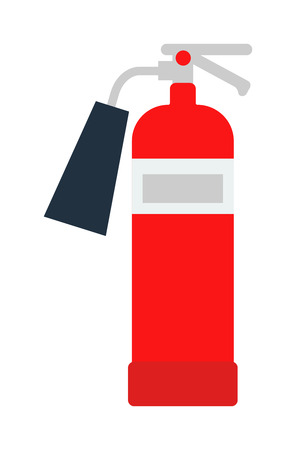 detachment: Red fire extinguisher isolated. Fire extinguishers safety red equipment and isolated danger protection emergency fire extinguishers isolated. Firefighter container fire extinguishers isolated tool.