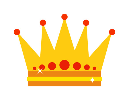 Gold Crown Isolated On White Background Crown Vector And Crown