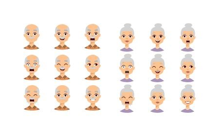 mature business man: Group of different people faces and People faces diversity group. People faces vector character and people faces set. Cute children people faces and different senior head cheerful diverse people.