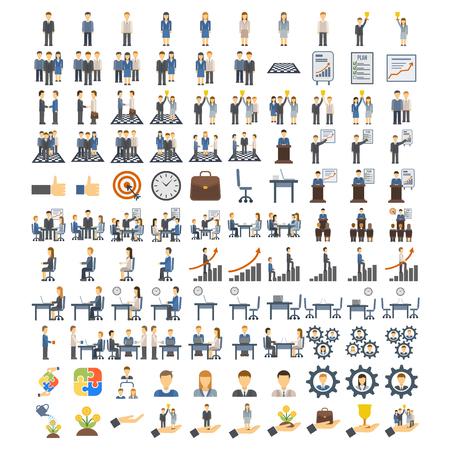 Ikony pracy zespołowej zestaw komunikacji symbol grupy, pracy zespołowej ikony społecznego projektu wektora spotkania. Ikony pracy zespołowej i sukces partnerski oraz ikona zespołu pracy zespołowej. Kierownictwo zespołowe.