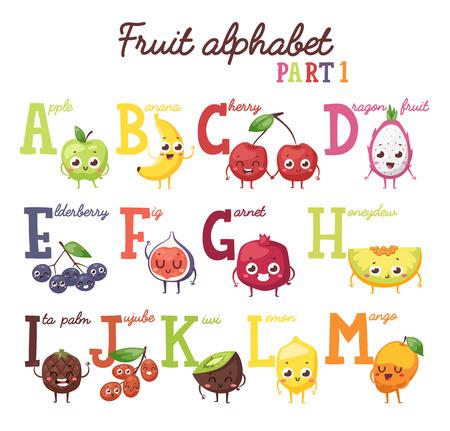 Fruit alphabet. English capital fruit alphabet and fruit alphabet uppercase letter with fruits. Fruit alphabet part one and fruit alphabet abc letter food font. Preschool english sweet fruits letters.