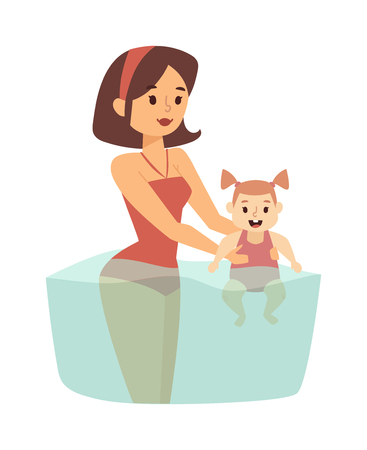 single mother: Summer time in beach and summer time vector familly travel. summer time summer time summer time