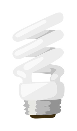 compact fluorescent lightbulb: Energy saving lamp isolated on white background and power save lamp light vector. Power save lamp energy technology and electric light bulb power saver lamp. Power save lamp bright economy alternative