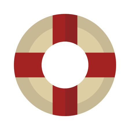 preserver: Lifebuoy vector icon symbol lifesaver swim. Isolated lifebuoy preserver icon object concept sign guard. Beach water ship float lifebuoy. Stripped lifebuoy emergency help survival equipment protection.