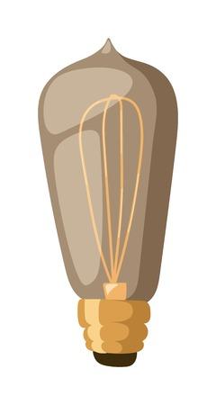 retro lamp: Old retro lamp vintage symbols light bulbs and old retro lamp. Edison old retro lamp light bulbs. Vector sign, old retro lamp elements. Old retro lamp electricity equipment design bulb decoration.