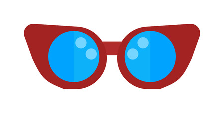 swimming glasses: Swimming pool glasses goggles isolated vector sportswear swim fins color protection for eyes vector. Swimmer goggles flippers glasses for swimming. For pool, swimming goggles, swim shorts Illustration