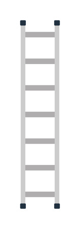 ladder safety: Construction ladder isolated and metal ladder over white construction ladder construction equipment. Stepladder construction ladder and work staircase construction ladder instrument.