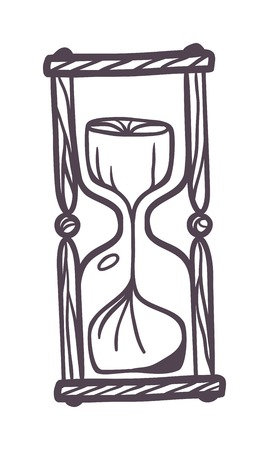watch glass: Hourglass sandglass vintage symbols and sand glass vintage icons for time concept. Sandglass vintage version and old glass watch minute vector sandglass vintage. Flow instrument measurement.