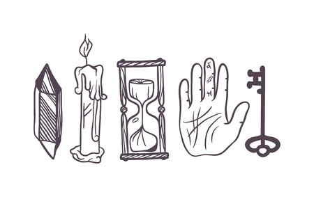 ancient philosophy: Vector esoteric symbol sketch hand drawn. Religion, philosophy, spirituality, occultism, chemistry, science, magic esoteric symbol. Design esoteric icon tattoo element.