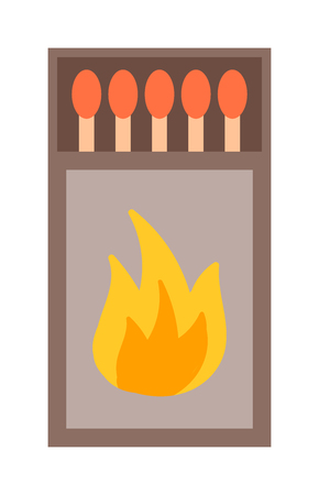 pyromania: Vector burning matches pack. Matches and hot lighters. Matches ignite and bright flammable lighters. Vector burning matches sticks