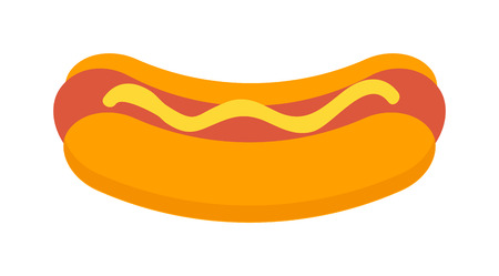 frankfurter: Hot dog with mustard and hot dog isolated with ketchup. Hotdog isolated on white background and mustard grilled fast frankfurter hotdog isolated. American dinner barbecue unhealthy food.