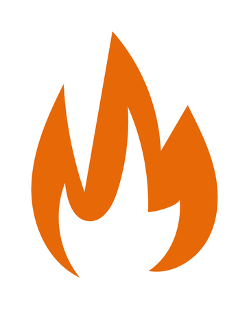 orange inferno: Fire flames hot burn and fire flame vector icon. Warm inferno danger fire flame and cooking yellow fire flame. Orange light blazing campfire ignite fire flame design and detail fireplace passion sign. Illustration