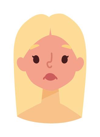 sunburn: Sunburn on girls face and vector sunburn girl face character. Summer sunburn pain red skin and sunburn summer protection body. Exposure redness danger sunbathing overexposure ultraviolet problem. Illustration