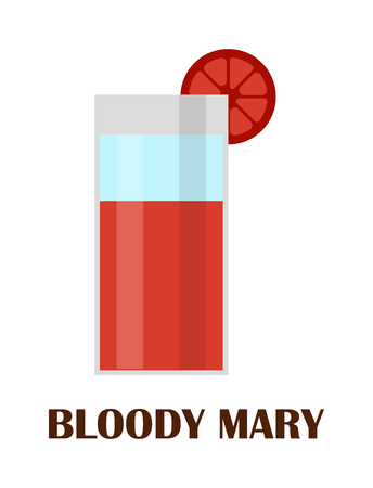cold temperature: Cocktail blood mary vector drink. Cold temperature virgin juice non alcoholic bloody mary cocktail. Cold pepper liquid vodka drink blood mary. Juicy salt tomato party. Celery ice healthy red bar.