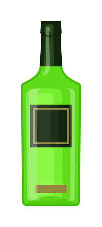 bottle of vine: Alcohol martini bottle restaurant liquid vector. Tropical scotch brewery martini bottle vine vermouth liquor. Party martini bottle design beverage. Alcohol lifestyle healthy drink. Illustration