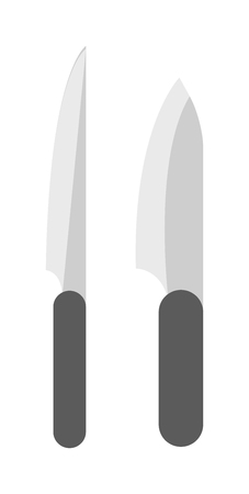 meat knife: Knife for meat and vintage meat cleaver knife. Meat knife steel kitchenware and meat knife silver cooking equipment. Kitchen knife cleaver cutter with handle sharp blade cook flat vector. Illustration