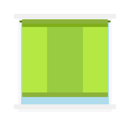 architectural styles: House window vector isolated on white background. Window elements flat vector style. Vector window frames. Window icon on white, Window frame isolated