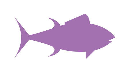 tuna fish: Tuna fish cartoon animals vector illustration. Silhouette tuna in fast motion. Flat simple tuna vector illustration. Tuna fish marine food. Healthy seafood tuna.