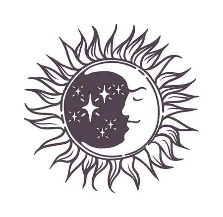 Moon logo design space symbol illustration. Creative moon logo abstract design sign star circle astronomy symbol. Galaxy science planet template night logo. Full moon light satellite. Stock Vector - 58501186