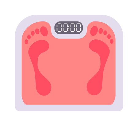 instrument of measurement: Human scales vector illustration. Personal human scales overweight, dieting healthcare balance object. Body measure human scales lifestyle fitness measurement instrument. Fitness lifestyle concept.