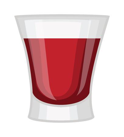 whisky: Whisky shot cup vector illustration. Refreshment rum beverage whisky shot cup. Whisky shot cup pub liquid, cocktail brandy short drink. Party drunk symbol. Drunkard spirit booze toast.