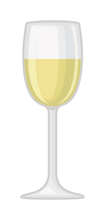 white wine: Champagne wine in a glass isolated on white background and vector drink. Glass of champagne alcohol beverage celebration grape merlot. Gourmet restaurant party alcohol champagne.