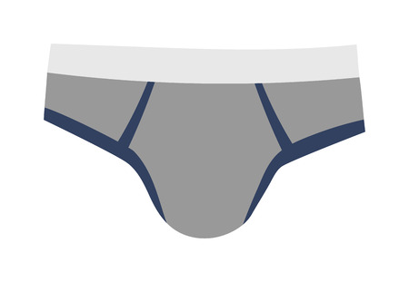 briefs: Mens briefs isolated on white background. Fashion underwear clothes underpants boxers. Vector isolated panties briefs textile underpants boxers. Sport drawers fitness men underwear.