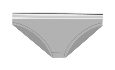 briefs: Female panties types flat thin bikini underpants vector icon. Woman underwear fashion styles bikini underpants collection. Underclothes bikini underpants design elements classic briefs.