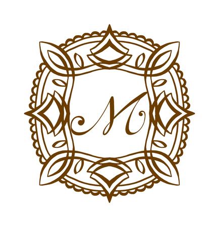 jewelry background: Business M sign monogram Illustration