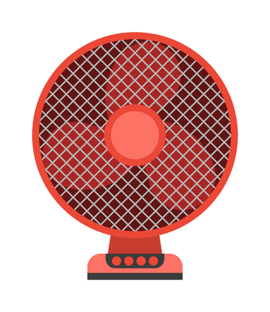ventilator: Electric ceiling fan wind home appliance. Electric cooler ventilator ceiling fan indoors propeller cooling element. Fresh cooler light ceiling fan circulation electrical vector equipment. Illustration