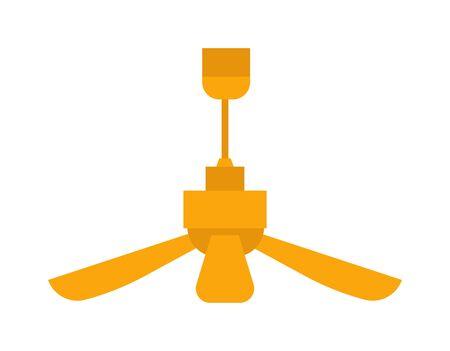 電気室天井ファンのベクトル。気候送風機アプライアンス オフィス人工呼吸器換気扇。循環間冷却プロペラ部屋ファン光、エアコン機器温度電気運