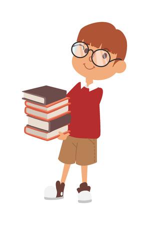 school canteen: Estudio niño niño de la escuela, infancia feliz educación primaria carácter vectorial. Escuela de educación muchacha niño y la escuela primaria niño de escuela estudio feliz. niños de la escuela en el aula de preescolar.