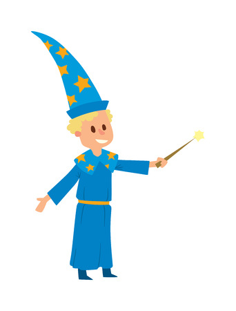 wizards: Magicians and wizards imagination, wich human performance magician and mystery wizards show. Magicians and wizards illusion show boy imagination, performance character vector.