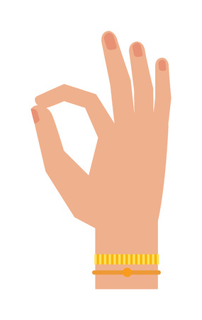 agree: Okey hand success symbol, ok hand yes agreement. Ok hand signal business human agree. Best approval accept. Silhouette of hand showing symbol Ok finger thumb vector illustration. Illustration