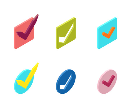 set form: Check box vector icons vector set. Check vote icons vote mark sign choice yes symbol. Correct design check vote icons check mark right agreement voting form. Button question choose success graphic. Illustration