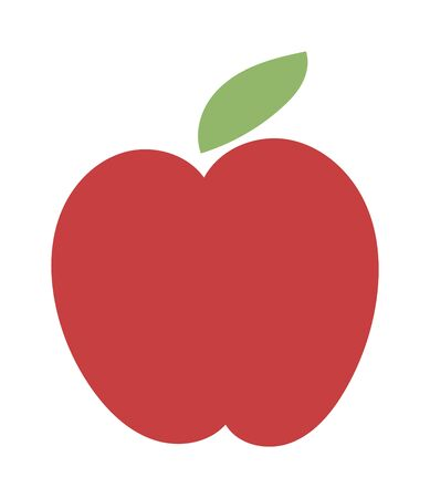 red apple: Fresh red apple icon organic food. Fresh sweet apple vegetarian organic fruit agriculture.