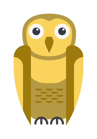 Cute vector collection of bright cartoon owls. Animal character cartoon owl comic funny collection. Doodle cheerful birds behavior cartoon owl Illustration