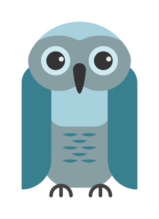 behavior: Cute vector collection of bright cartoon owls. Animal character cartoon owl comic funny collection. Doodle cheerful birds behavior cartoon owl Illustration