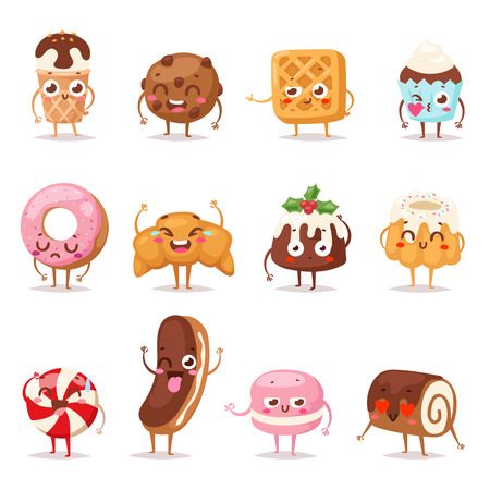 Collection sweets emotion lovely dessert candy and dessert doodle icon, cute cake, adorable candy, sweet ice cream, jelly bean. Sweet emotion girly cookie. Confectionery caramel sweet emotion. 版權商用圖片 - 60454830
