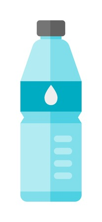 Water bottle vector illustration. Water bottle drink isolated and clean water bottle. Fresh water fitness equipment health container. Plastic water bottle for drink water. Water clean full bottle