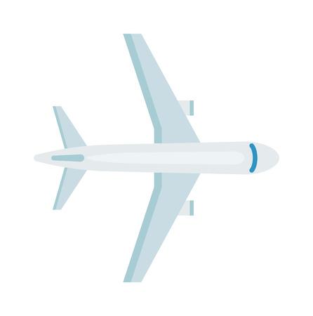 Avión de vector vista superior. ilustración vectorial vista en planta superior. superior plano de la vista del pasajero avión de pasajeros blanco viaje de vacaciones y el plano tapa transporte visión aviones. Plano superior la comunicación vista piloto. Foto de archivo - 60454917