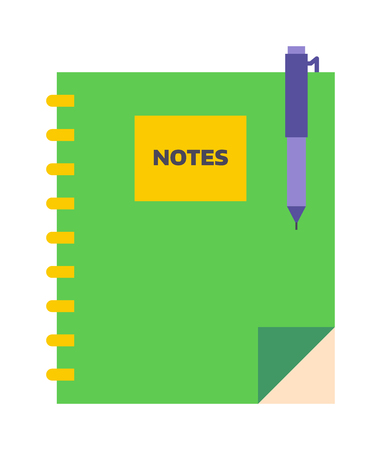 organizer page: Planners notebook organizer diary paper note page business vector. Planners notebook organizer diary paper page and business planners notebook. Planners notebook office empty pad school education. Illustration