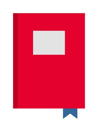 red book: Red book on white background and vector red book. Cover paper education red book and learning hardcover red book. Empty read red book library information study textbook. Learn paper sheet old design.