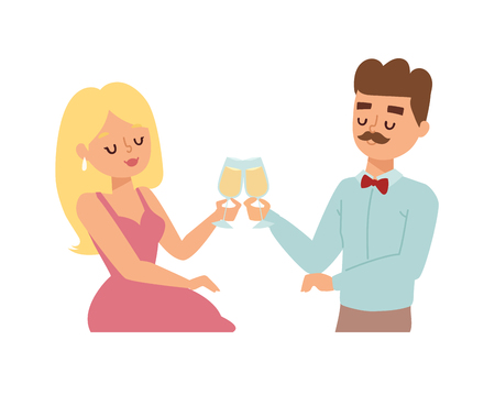 dating: Young smiling dating couple enjoying meal restaurant and drinking. Man whispering to woman wine glass, dating couple restaurant.
