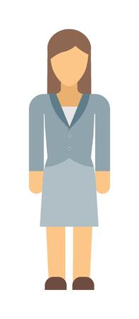full figure: Vector business woman silhouette forward full length over white background. Business woman silhouette vector and design work business woman silhouette figure pose success.
