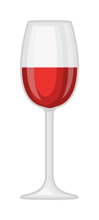 merlot: Red wine in a glass isolated on white background and glass of wine vector drink. Glass of red wine and glass of wine alcohol beverage celebration grape merlot. Gourmet restaurant party alcohol liquor. Illustration
