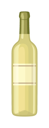 cabernet: Bottle of wine drink alcohol beverage winery cabernet design vector illustration. Wine bottle elegance product, red wine bottle and bar drink. Merlot product champagne brand.