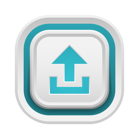 interface buttons: UI interface buttons upload file. Vector internet start upload button positive isolated. Website accept upload button success mark approved tick concept. Correct shiny sign. Illustration